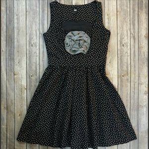 H&M - Fit & flare pin-up polka dot dress- Size 8